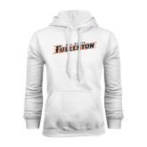 White Fleece Hood-Cal State Fullerton