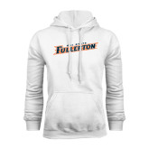 White Fleece Hoodie-Cal State Fullerton