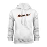 White Fleece Hoodie-Fullerton