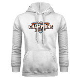 White Fleece Hoodie-2017 Big West Track & Field Champions