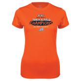 Ladies Syntrel Performance Orange Tee-2018 Big West Track and Field Champions