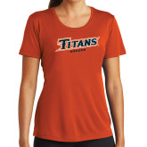 Ladies Syntrel Performance Orange Tee-Soccer
