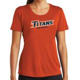 Ladies Syntrel Performance Orange Tee-Softball