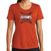 Ladies Syntrel Performance Orange Tee-Baseball Sideway Seams