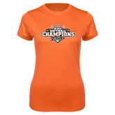 Ladies Syntrel Performance Orange Tee-2017 Big West Back to Back Softball Champions
