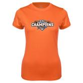 Ladies Syntrel Performance Orange Tee-2017 Big West Track & Field Champions