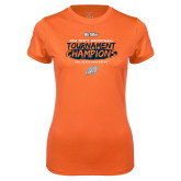 Ladies Syntrel Performance Orange Tee-2018 Mens Basketball Champions - Brush