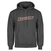 Charcoal Fleece Hood-Cal State Fullerton