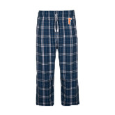 Navy/White Flannel Pajama Pant-F