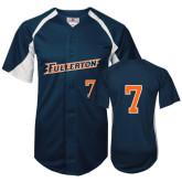 Replica Navy Adult Baseball Jersey-#7