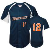 Replica Navy Adult Baseball Jersey-#12