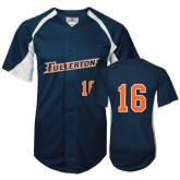 Replica Navy Adult Baseball Jersey-#16
