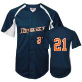Replica Navy Adult Baseball Jersey-#21