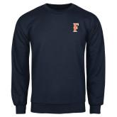 Navy Fleece Crew-F