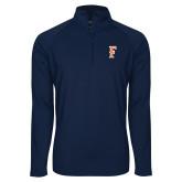 Sport Wick Stretch Navy 1/2 Zip Pullover-F