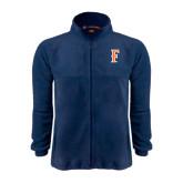 Fleece Full Zip Navy Jacket-F