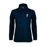 Ladies Fleece Full Zip Navy Jacket-F