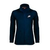 Ladies Fleece Full Zip Navy Jacket-Alternate Head