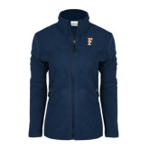 Columbia Ladies Full Zip Navy Fleece Jacket-F