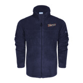 Columbia Full Zip Navy Fleece Jacket-Primary Logo