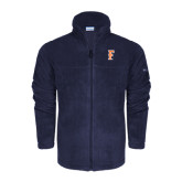 Columbia Full Zip Navy Fleece Jacket-F