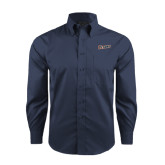 Red House Deep Blue Herringbone Long Sleeve Shirt-Primary Logo