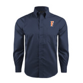 Red House Deep Blue Herringbone Long Sleeve Shirt-F