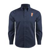 Red House Deep Blue Herringbone Long Sleeve Shirt-F