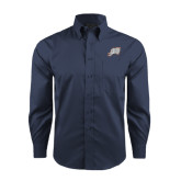Red House Deep Blue Herringbone Long Sleeve Shirt-Alternate Head