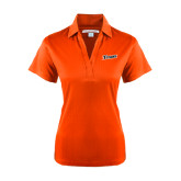 Ladies Orange Performance Fine Jacquard Polo-Primary Logo