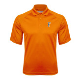 Orange Textured Saddle Shoulder Polo-F
