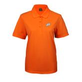 Ladies Easycare Orange Pique Polo-Alternate Head