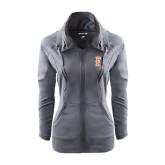 Ladies Sport Wick Stretch Full Zip Charcoal Jacket-F