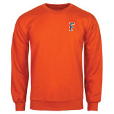 Orange Fleece Crew-F