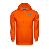 Under Armour Orange Performance Sweats Team Hoodie-Primary Logo