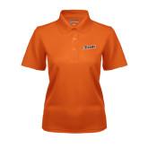 Ladies Orange Dry Mesh Polo-Primary Logo