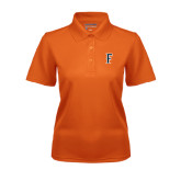 Ladies Orange Dry Mesh Polo-F