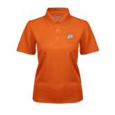 Ladies Orange Dry Mesh Polo-Alternate Head