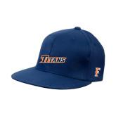 Navy OttoFlex Flat Bill Pro Style Hat-Primary Logo