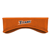 Orange Stretch Fleece Headband-Primary Logo