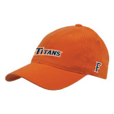 Orange Flexfit Mid Profile Hat-Primary Logo