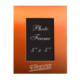 Orange Brushed Aluminum 3 x 5 Photo Frame-Primary Logo Engraved