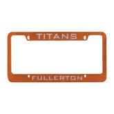Metal Orange License Plate Frame-Mascot