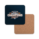 Hardboard Coaster w/Cork Backing-2017 Big West Back to Back Softball Champions