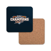 Hardboard Coaster w/Cork Backing-2017 Big West Track & Field Champions