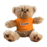 Plush Big Paw 8 1/2 inch Brown Bear w/Orange Shirt-Primary Logo
