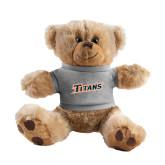 Plush Big Paw 8 1/2 inch Brown Bear w/Grey Shirt-Primary Logo