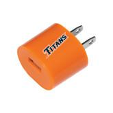 Orange USB A/C Adapter-Primary Logo