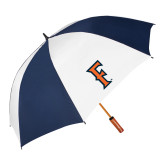 62 Inch Navy/White Umbrella-F