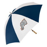 62 Inch Navy/White Umbrella-Alternate Head
